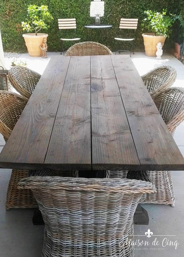 patriotic table before photo backyard patio table wicker chairs french country style