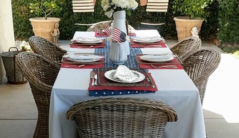 Fun & Easy Patriotic Tablescape for Summer Entertaining!