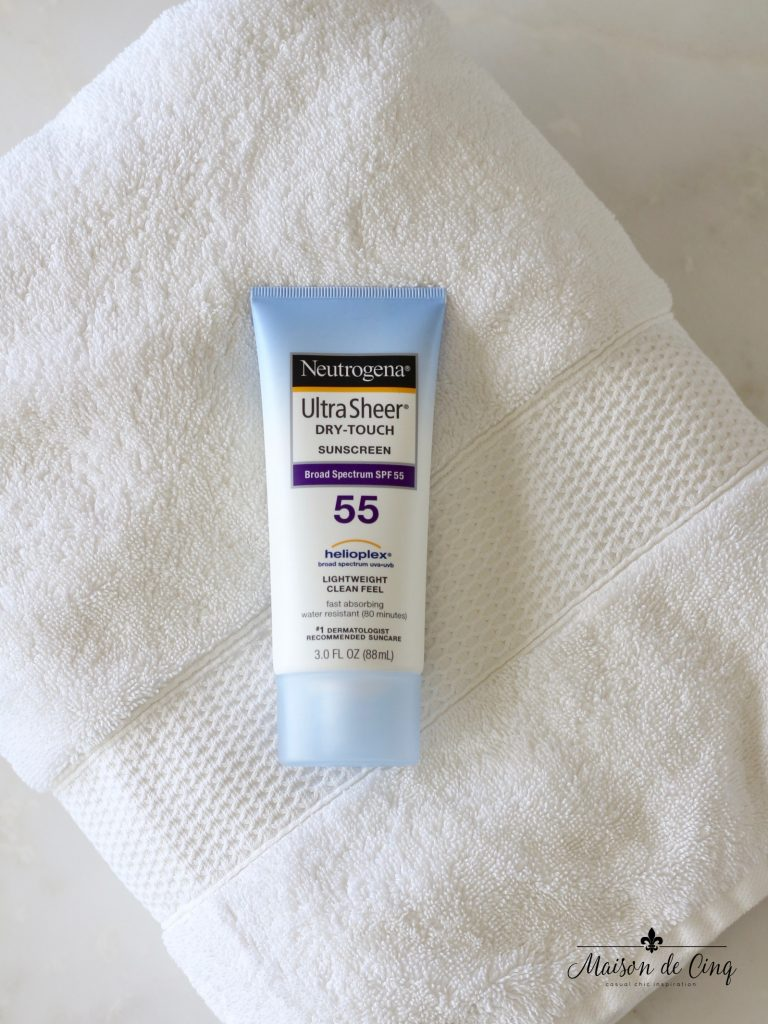 summer essentials neutrogena ultra sheer dry touch sunscreen