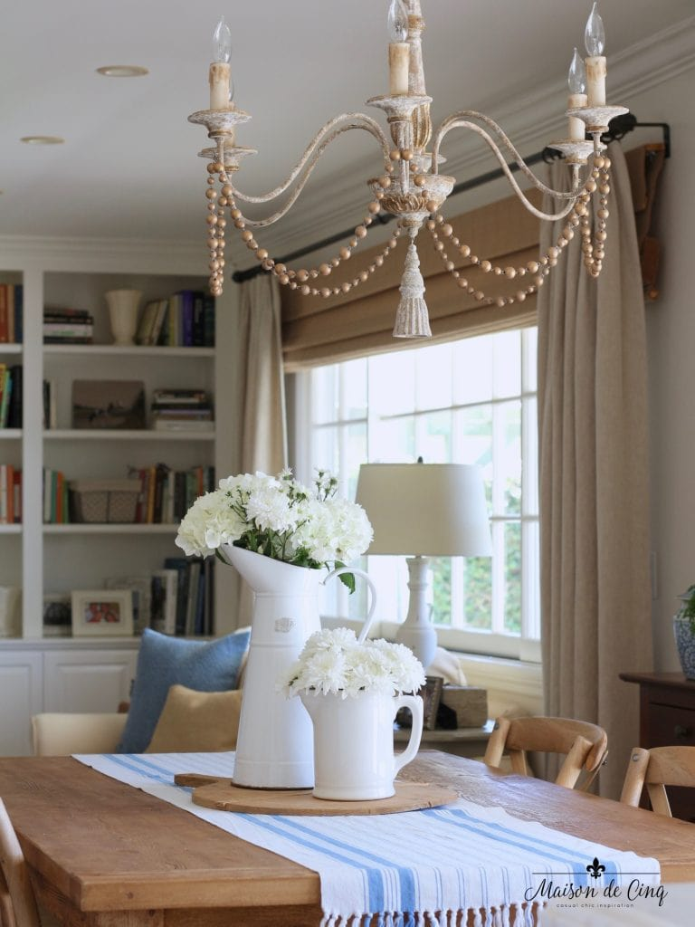 summer home tour breakfast area family room chandelier french country style
