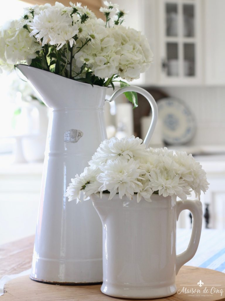 summer kitchen tour white flowers fresh summer style white farmhouse kitchen