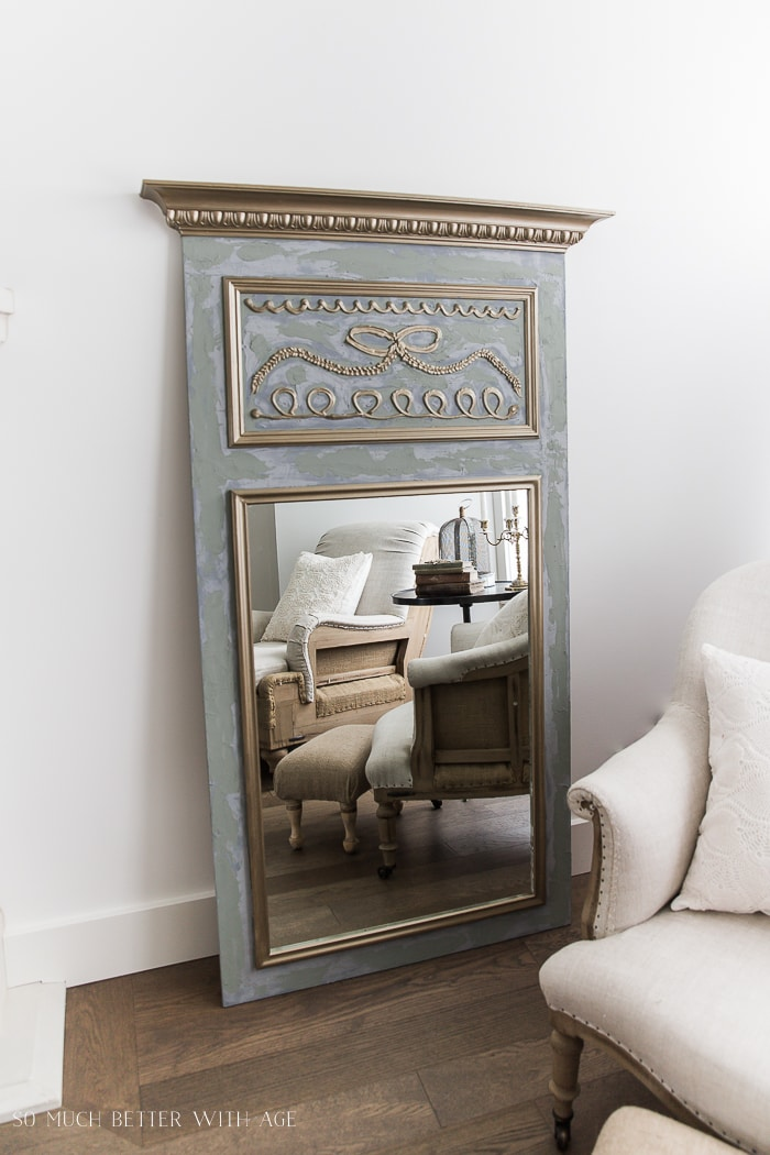french decor book DIY trumeau mirror amazing