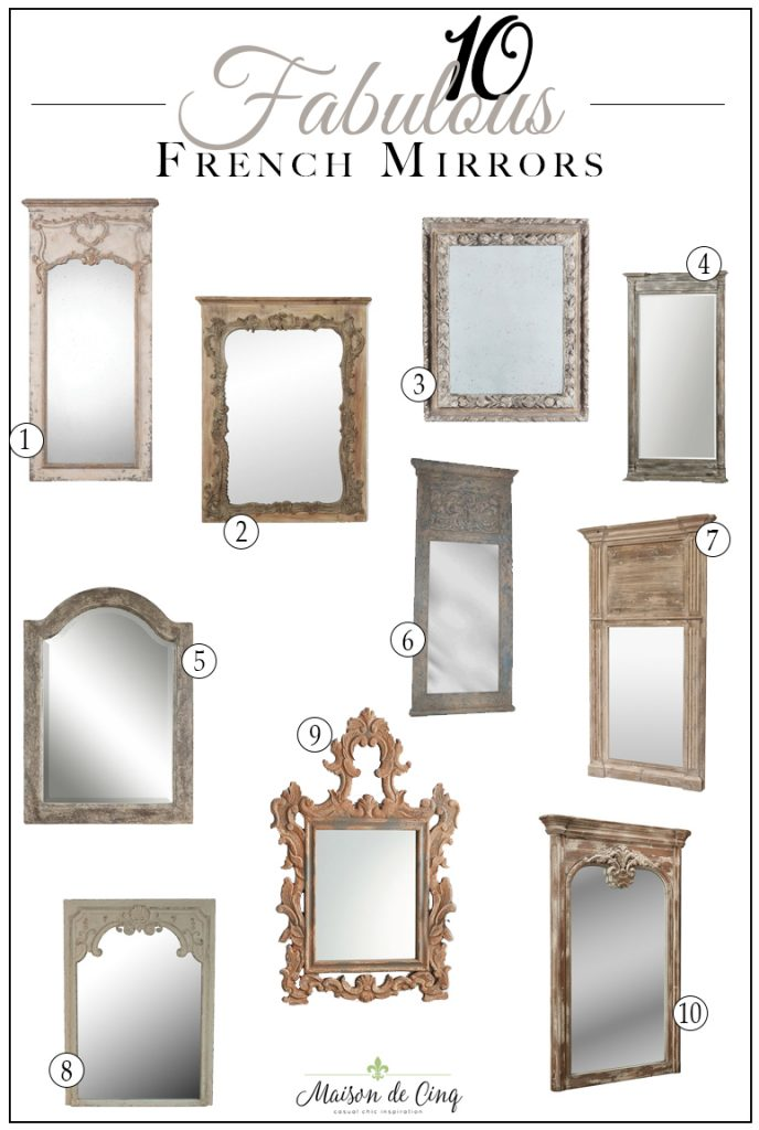 fabulous french style mirrors french country farmhouse decor