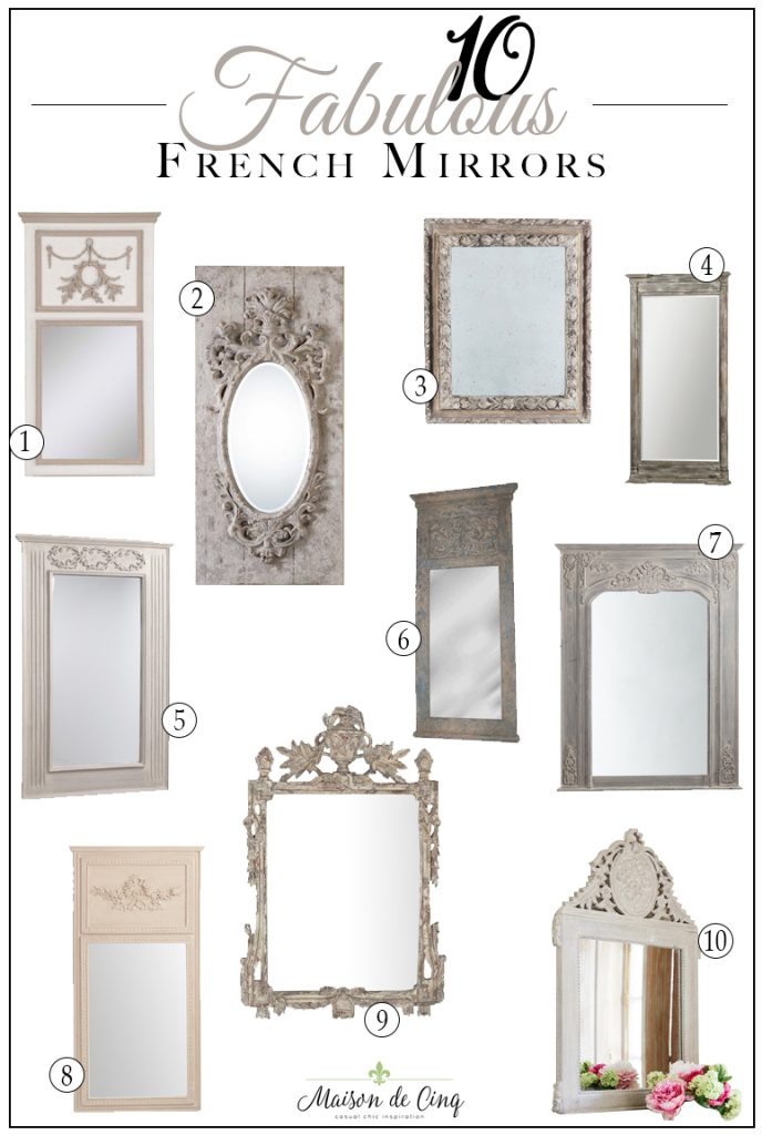 10 fabulous french style mirrors