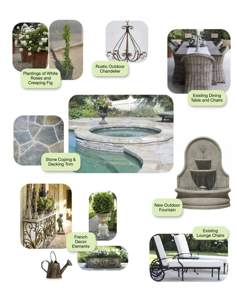 backyard renovation mood board and inspiration french country inspired