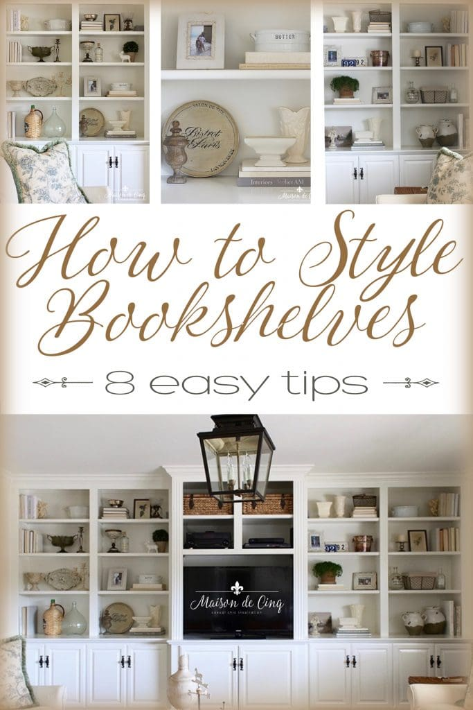 how to style bookshelves 8 easy tips french country style white cabinets