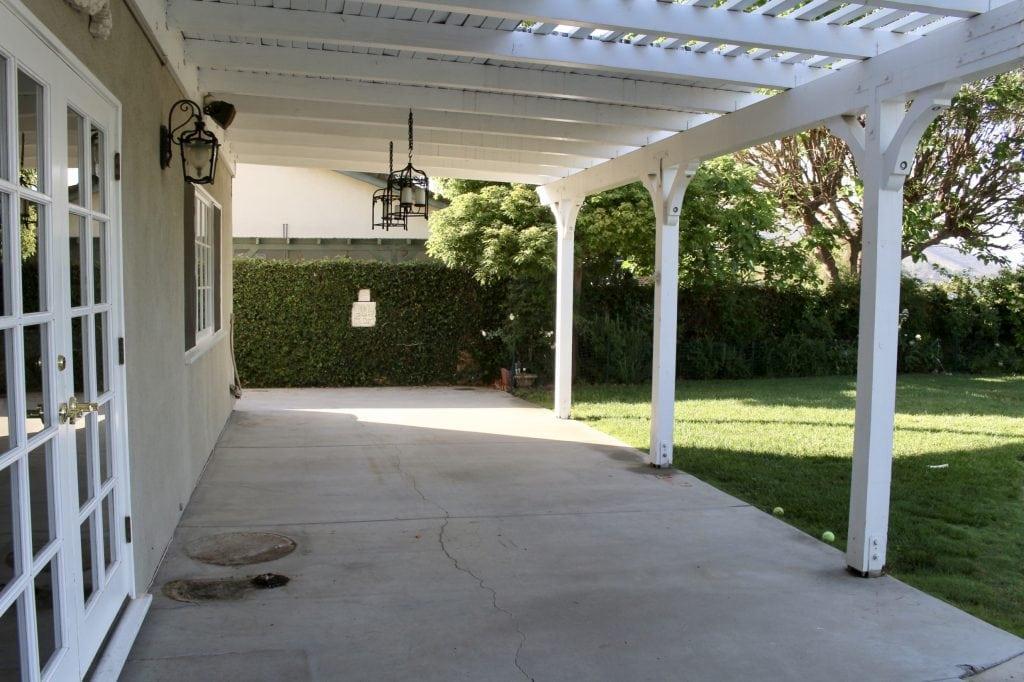 backyard renovation before shot of yard