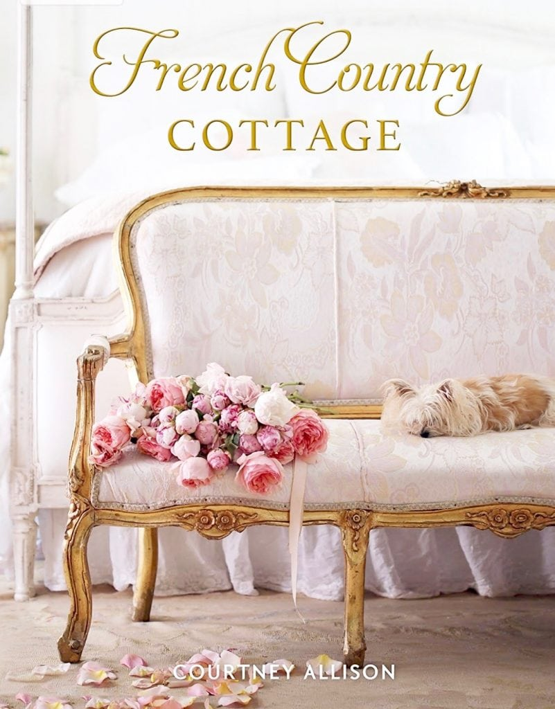 french country cottage book cover french settee roses dog canopy bed