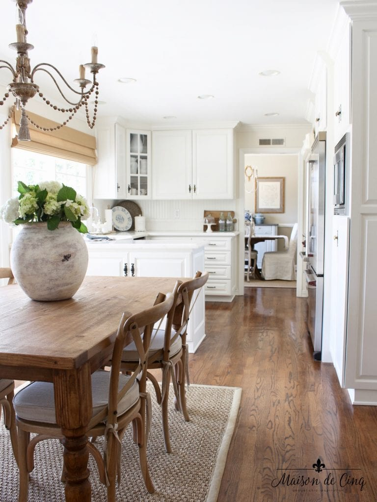 farmhouse table and chairs white kitchen farmhouse style breakfast area with chandelier