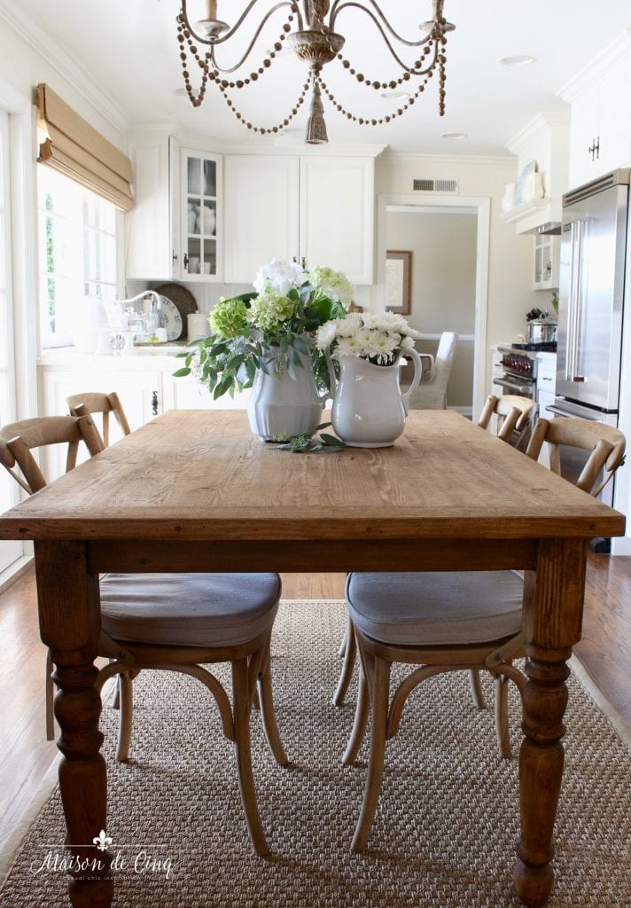 french cafe chairs x back style with farmhouse table gorgeous french country white kitchen