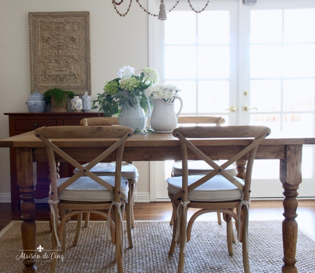 french cafe chairs x back style farmhouse table in french country breakfast area
