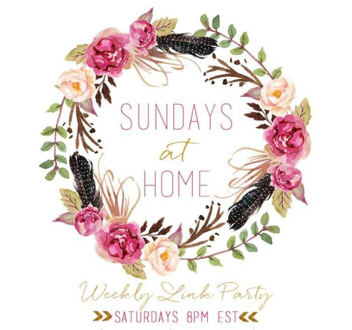 Sundays at Home Link Party http://mysoulfulhome.com