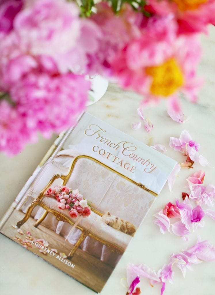 french country cottage book cover pink flowers vignette on table