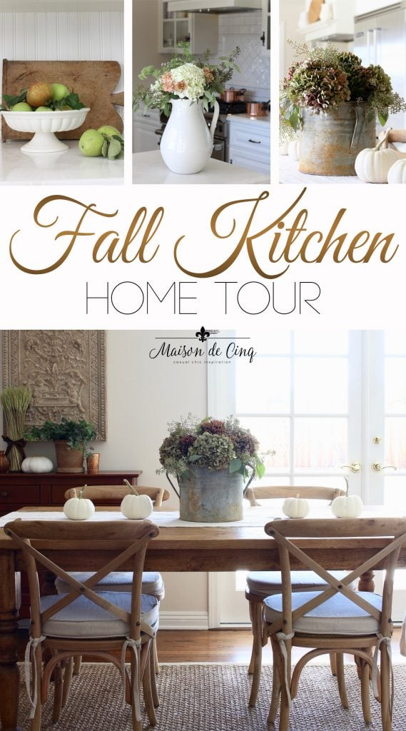 fall kitchen tour in rich fall colors french country style on maison de cinq