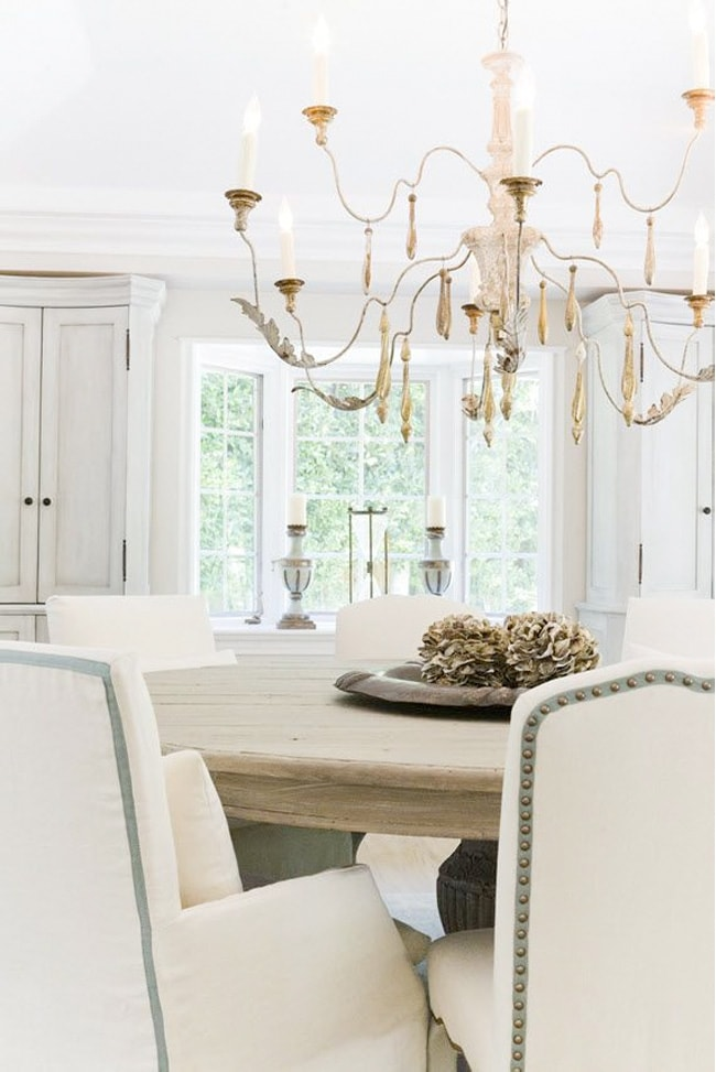 Rustic French Country Chandeliers, White Chandeliers For Dining Rooms
