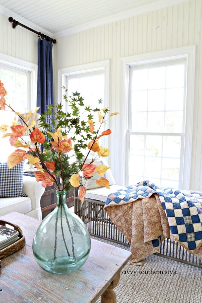 autumn's in the air blog tour savvy southern style fall sunroom