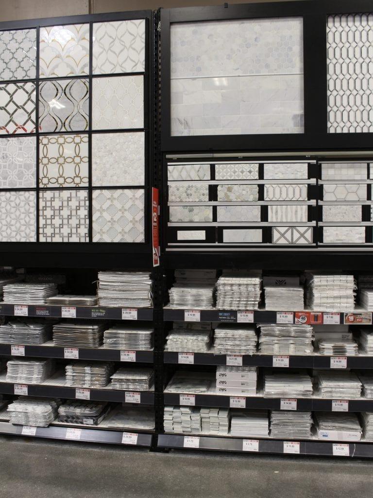 floor & decor showroom marble tiles options