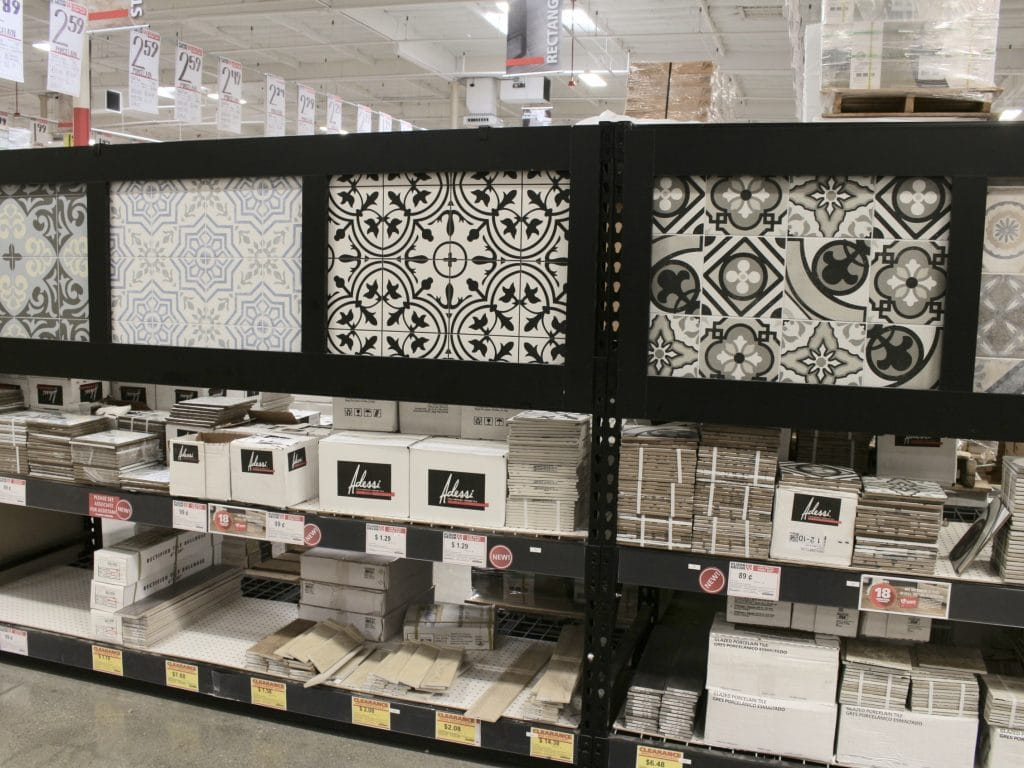 floor & decor showroom cement tiles