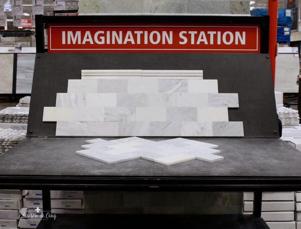 Floor & Decor imagination station planning bathroom remodel