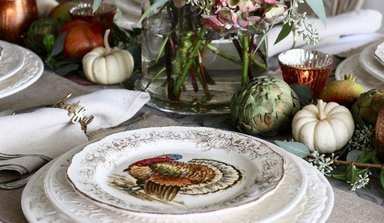 Bountiful Harvest Thanksgiving Table Setting