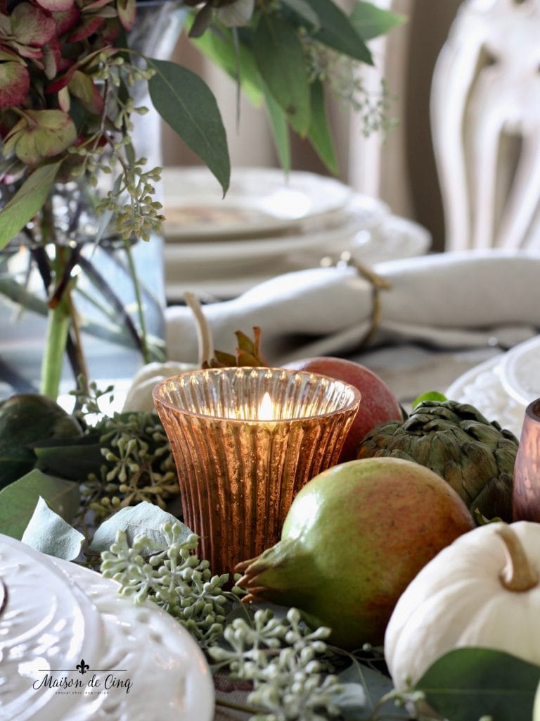 decorating with copper for fall thanksgiving table setting copper votive