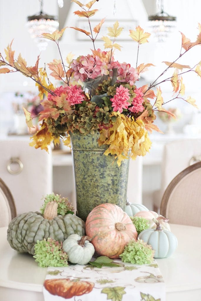 autumn's in the air blog tour styled with lace fall flowers and pumpkins