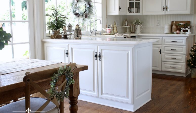 Soft & Romantic Christmas Kitchen Tour