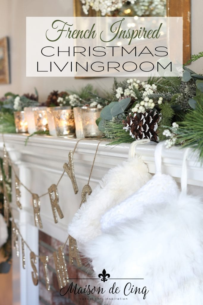 romantic french country christmas living room tour gorgeous neutral holiday decor