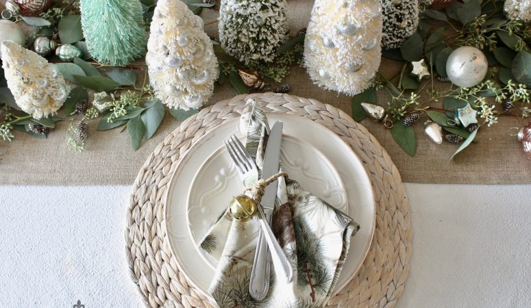 Soft & Romantic Christmas Table Setting