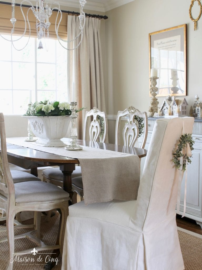 Romantic Dining Room: French Inspired Romantic Christmas Dining Room