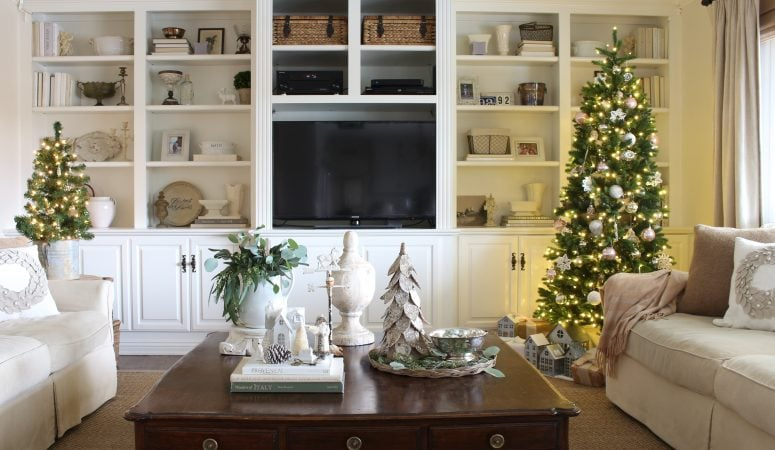 French Farmhouse Christmas in the Family Room