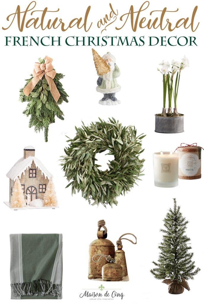 french christmas decor natural neutral gorgeous holiday decor ideas maison de cinq