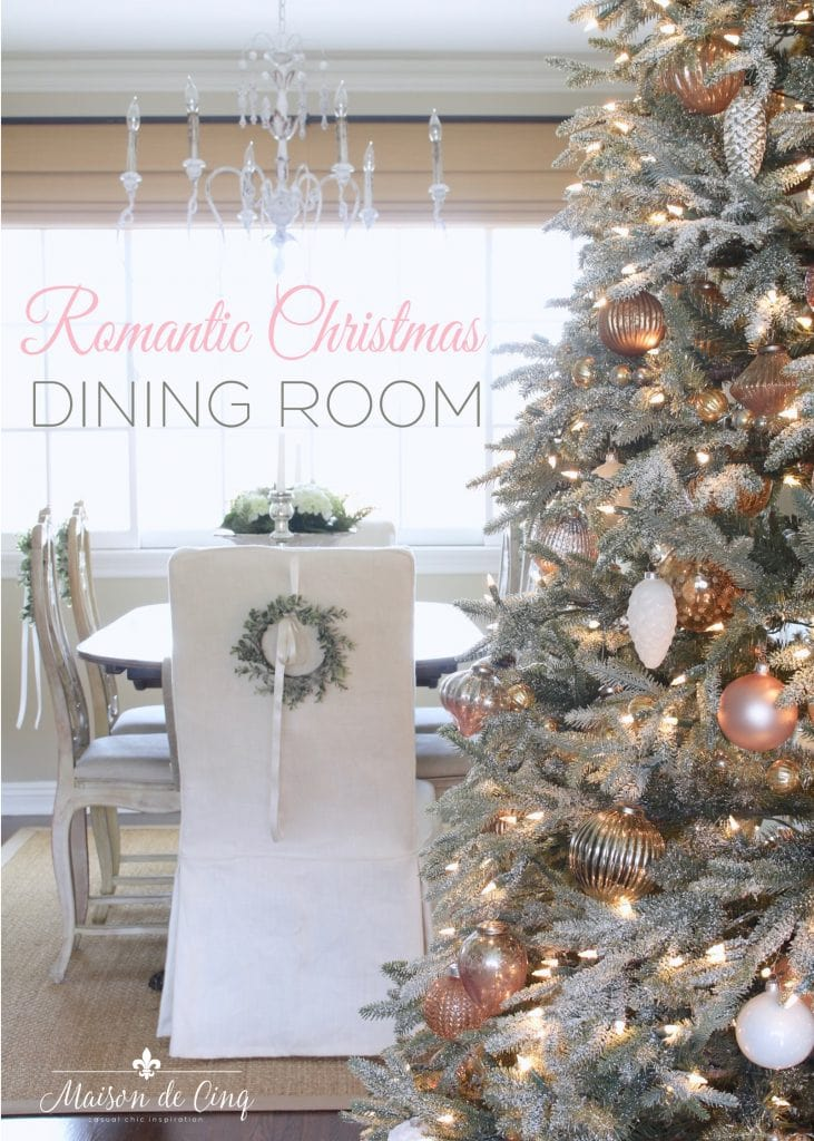 christmas dining room french country charm blush and white christmas decor gorgeous