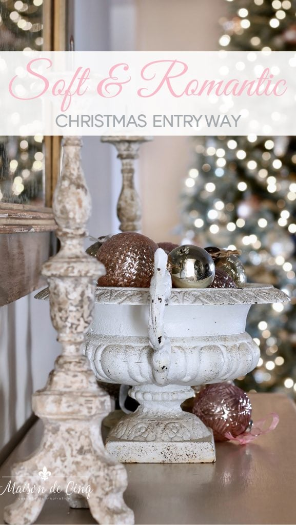 christmas entryway soft romantic french inspired holiday decor
