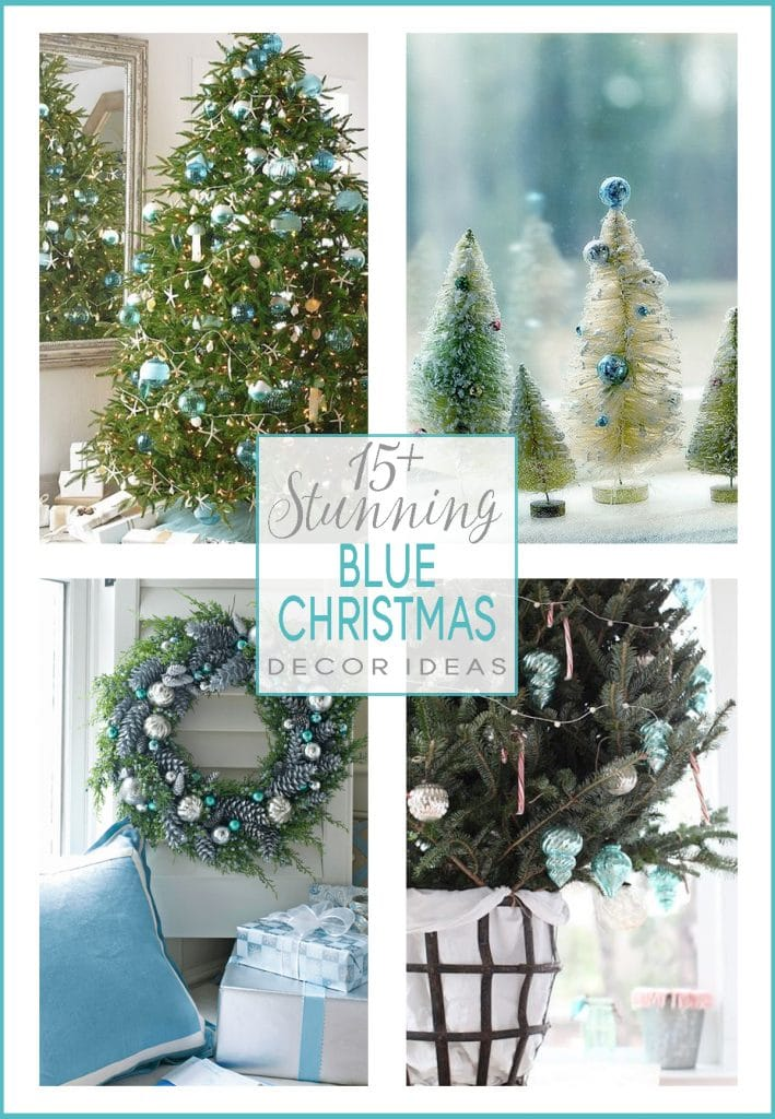 blue christmas decor ideas 15 stunning inspiring examples holiday decor