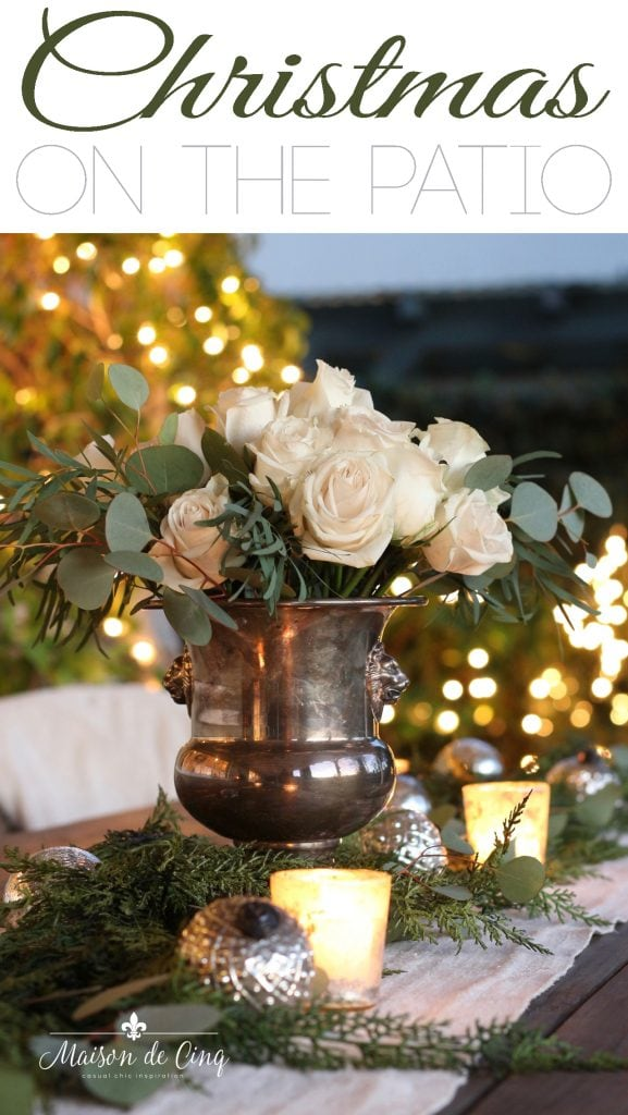 cozy Christmas on the patio romantic table setting outside gorgeous holiday decor