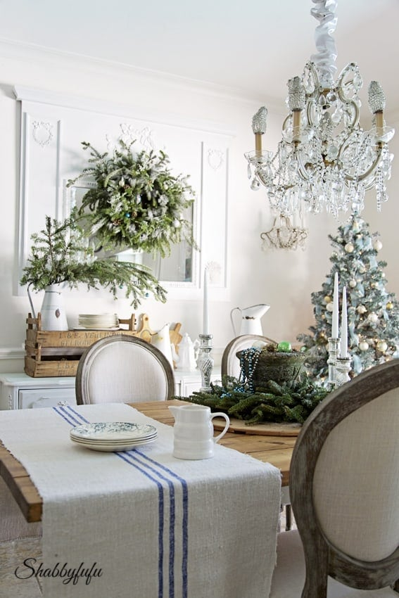 blue christmas decor ideas french country inspiration white room blue accents