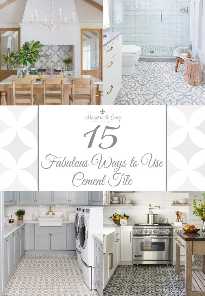 cement tile trend and 15 fabulous ways to use it in your home patterned tile morrocan tile