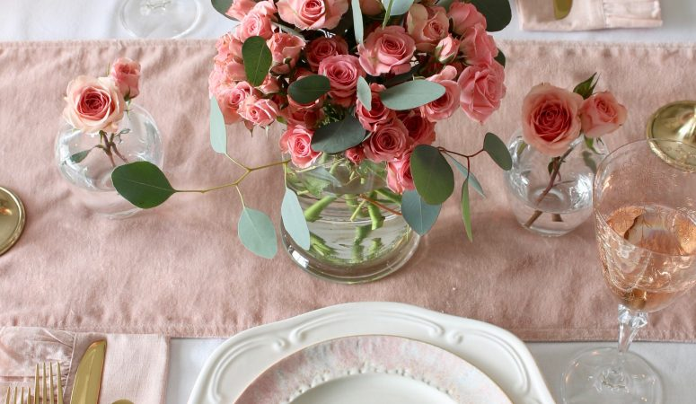 A Soft & Romantic Valentine's Day Table for Two