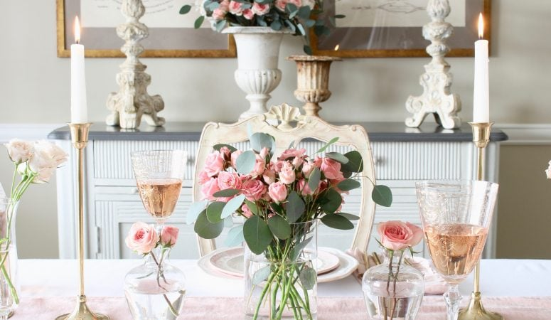 French Country Fridays – Romantic Florals, Valentine's Day Tables & More!