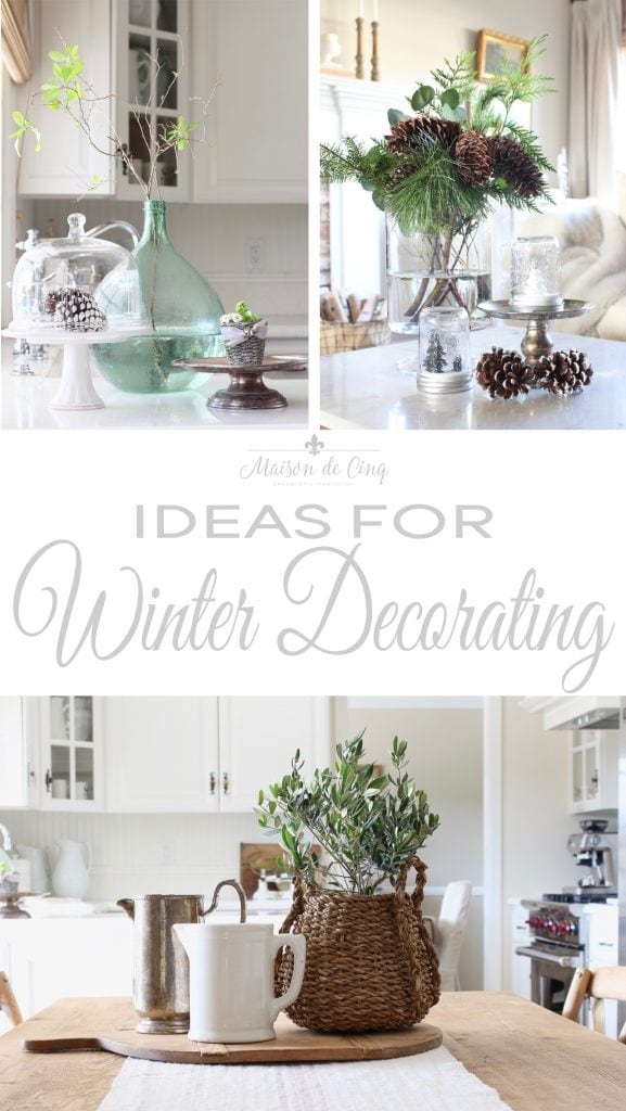 tips for winter decorating on maison de cinq