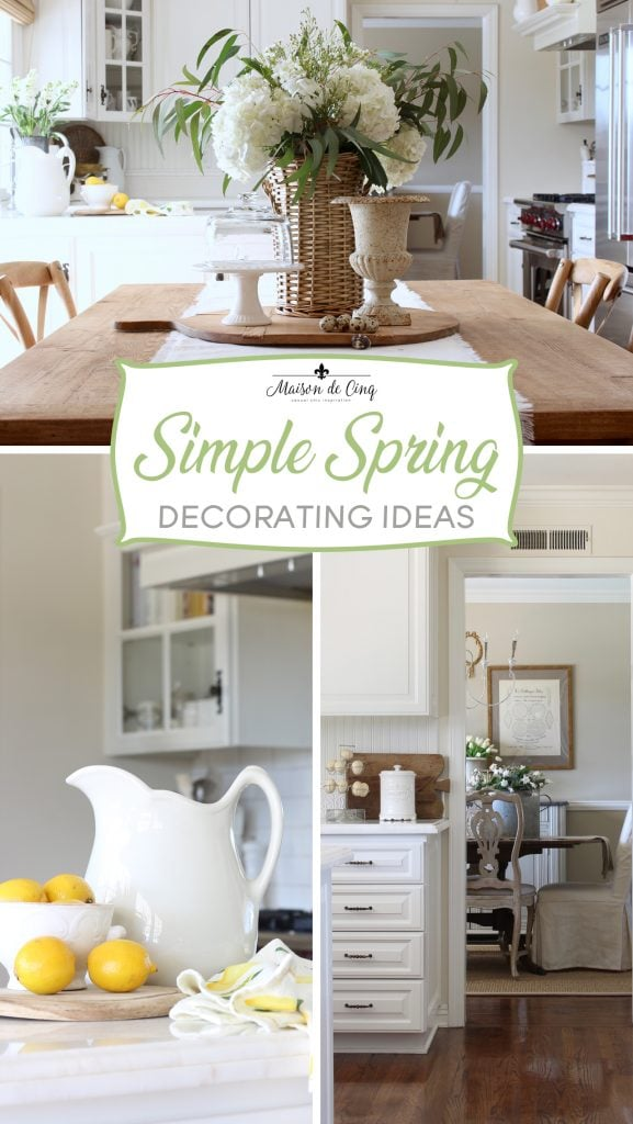 spring decorating ideas flowers lemons and spring cheer in white farmhouse kitchen