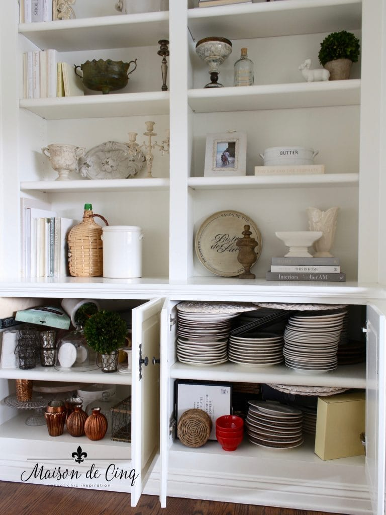 tips for organizing cabinets dishes clutter messy before