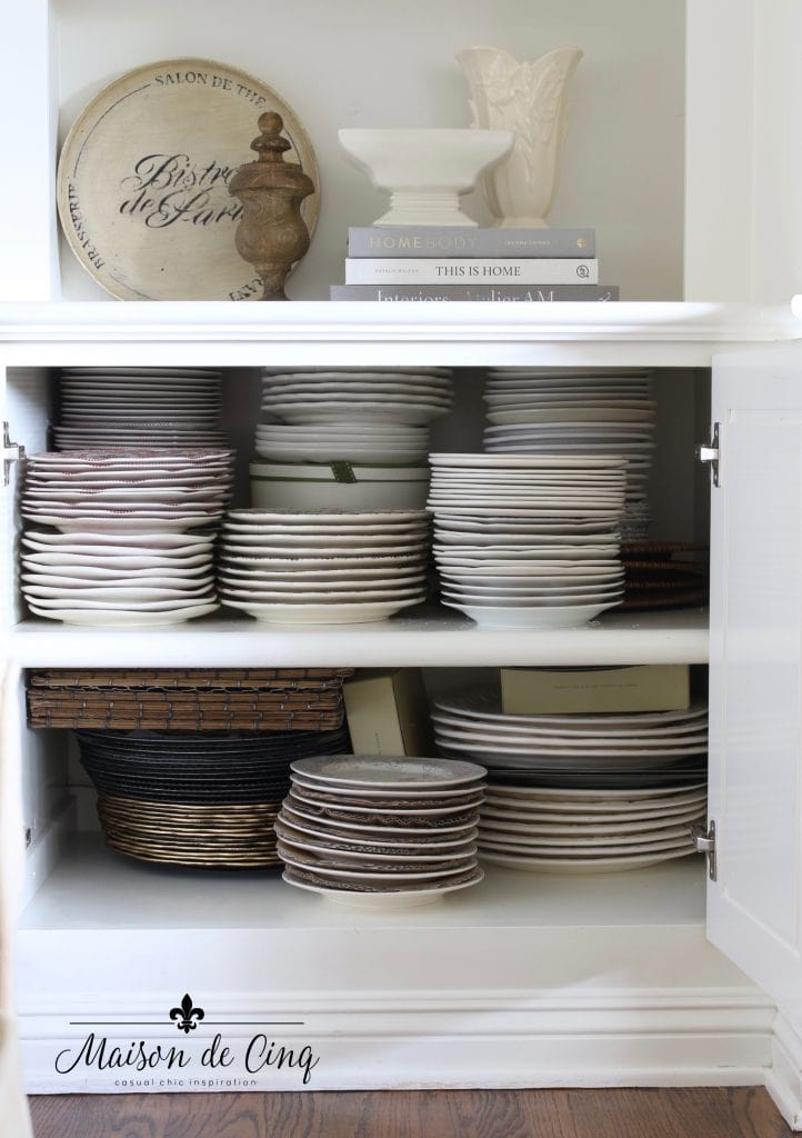 tips for organizing cabinets neat after shot of dishes tableware storage cabinet