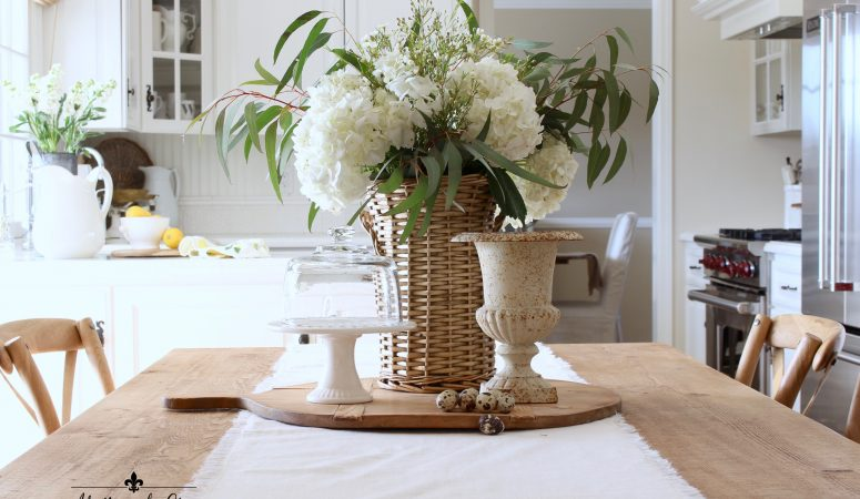 Simple Early Spring Decorating in the Kitchen