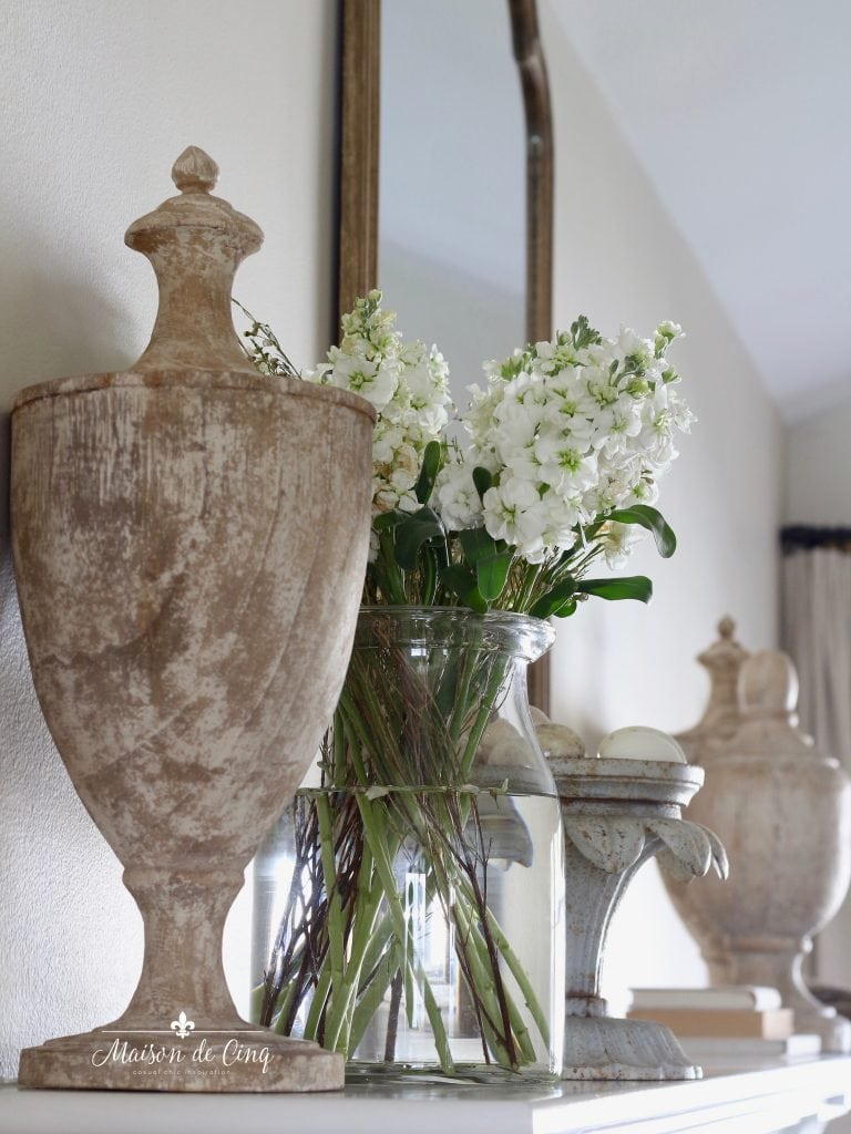 five spring decorating tips mantel styling flowers french country decor