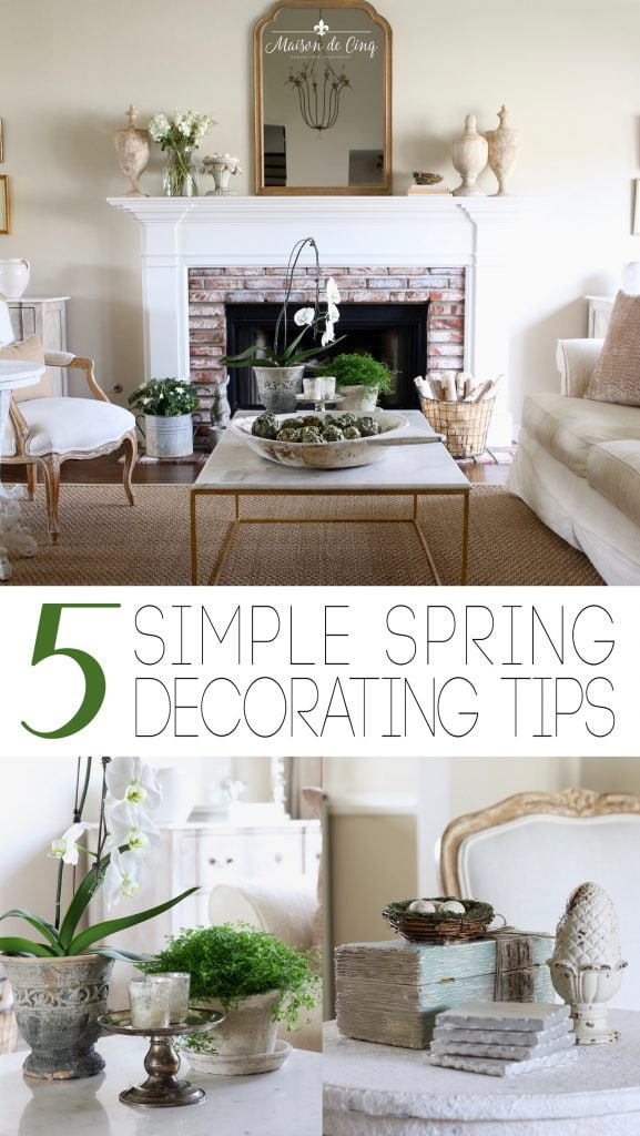 5 spring decorating tips flowers and spring decor in french country living room