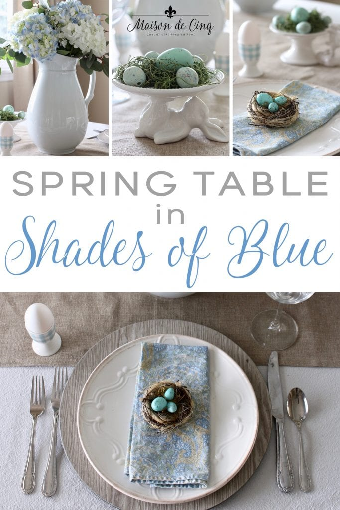 spring tablescape in shades of blue maison de cinq