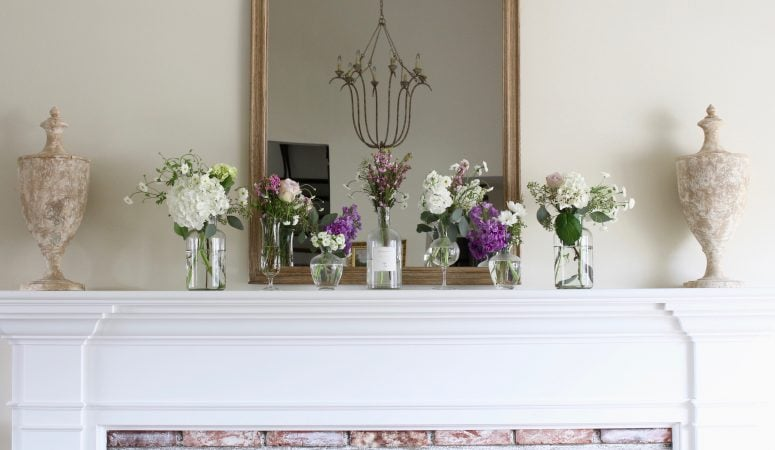 Sweet & Simple French Farmhouse Spring Mantel