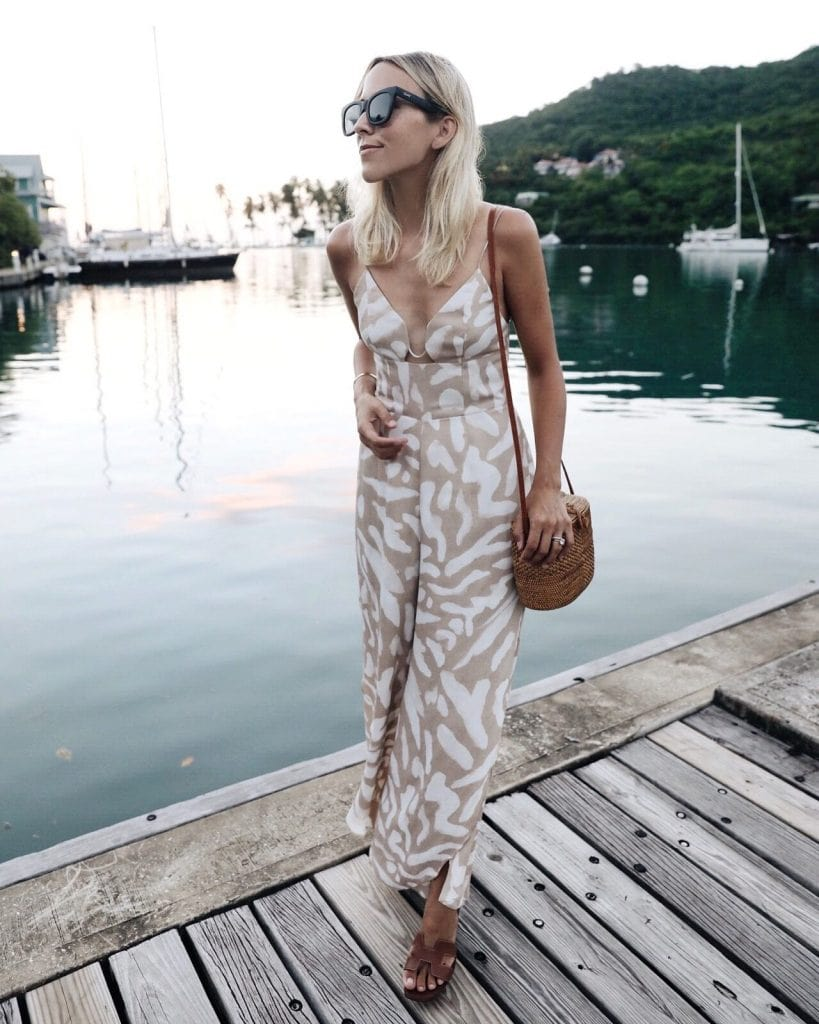 jumpsuit trend floral strappy summer fashion